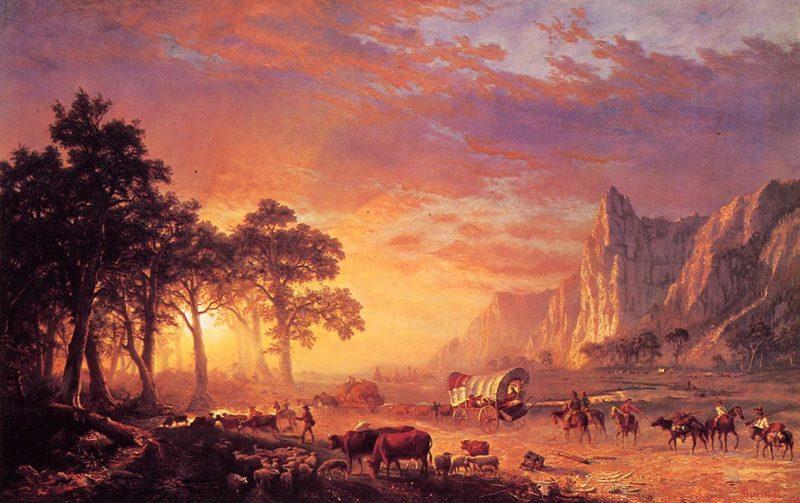 The Oregon Trail 1869 | Albert Bierstadt | Oil Painting