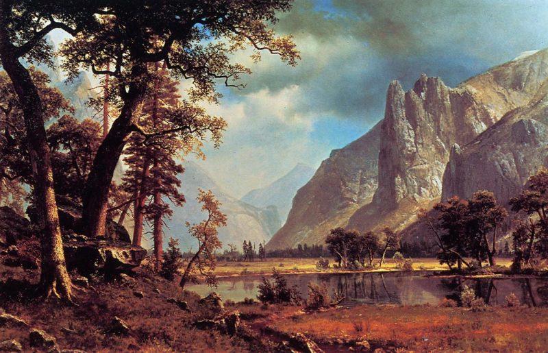 Yosemite Valley 1866 | Albert Bierstadt | Oil Painting
