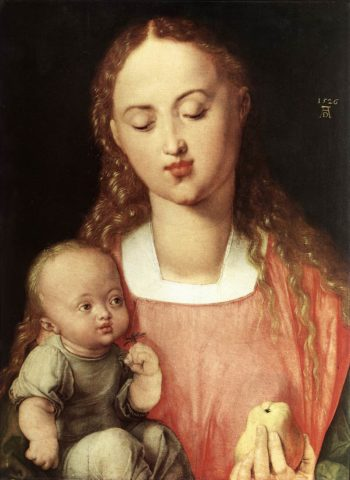 Madonna And Child With The Pear 1526 | Albrecht Durer | Oil Painting
