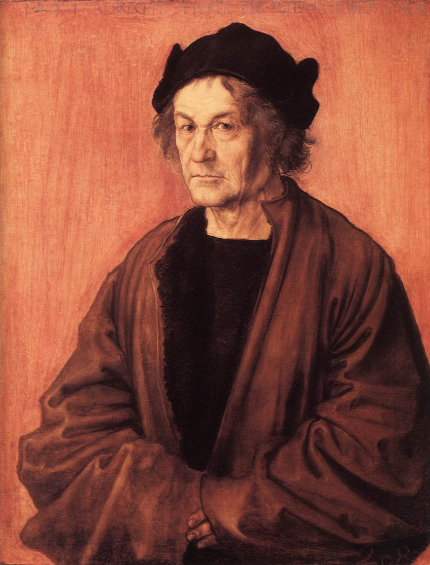 Portrait Of Duerers Father At 70 1497 | Albrecht Durer | Oil Painting