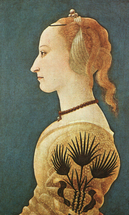 Portrait of a Lady in Yellow 1400s | Alessio Baldovinetti | Oil Painting