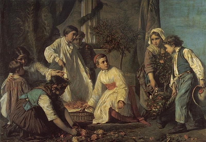 Corpus Christi Day | Alexandre Antigna | Oil Painting