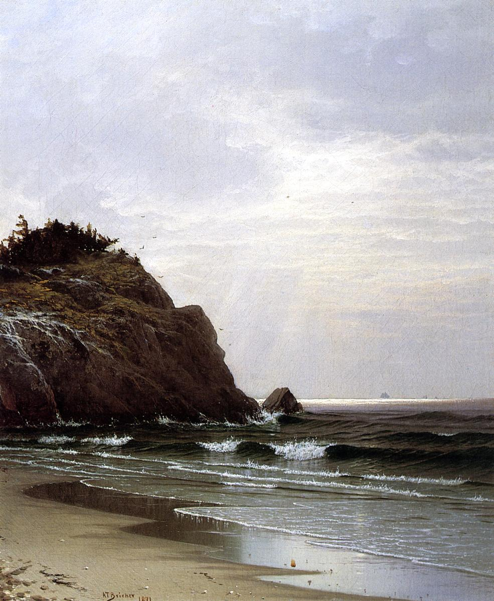 A Cloudy Day 1871 | Alfred Thompson Bricher | Oil Painting