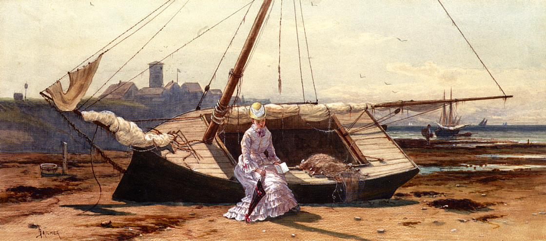 A Pensive Moment 1875 1880 | Alfred Thompson Bricher | Oil Painting