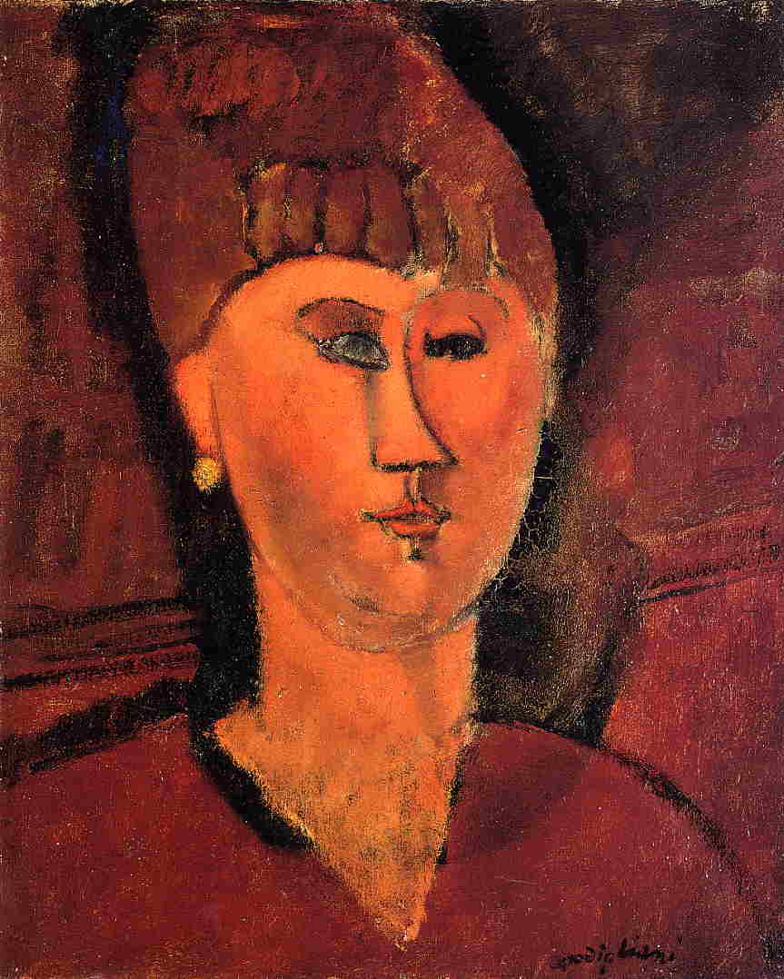 Head of Red Haired Woman 1915 | Amedeo Modigliani | Oil Painting