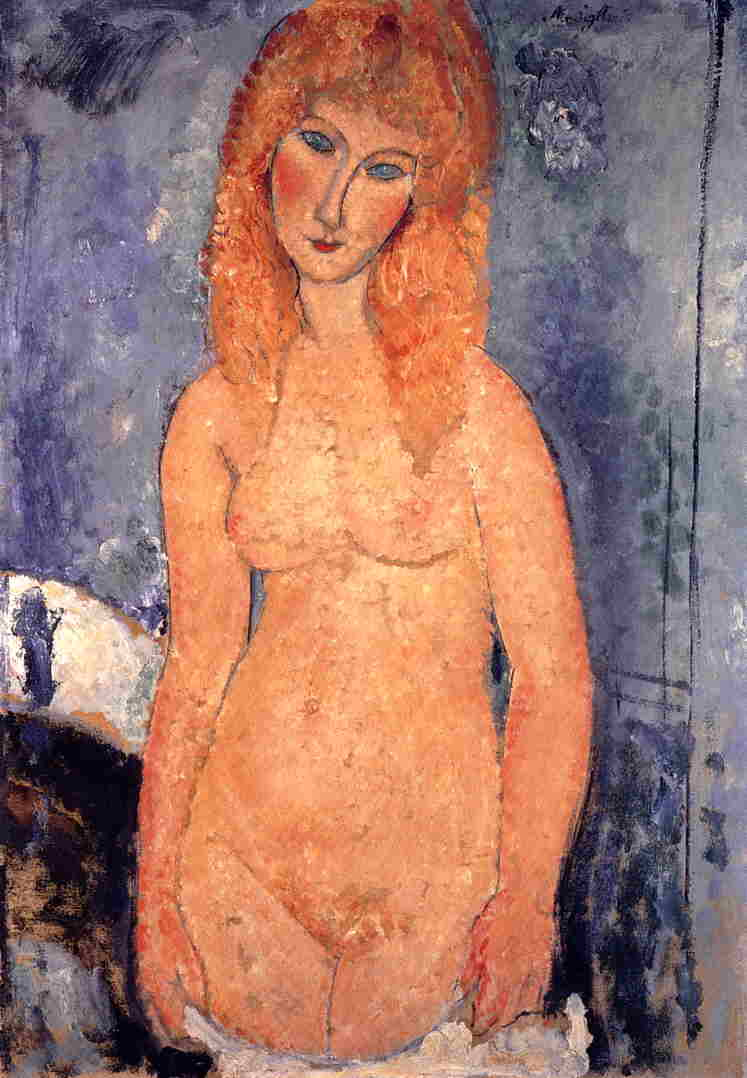 Blonde Nude 1917 | Amedeo Modigliani | Oil Painting