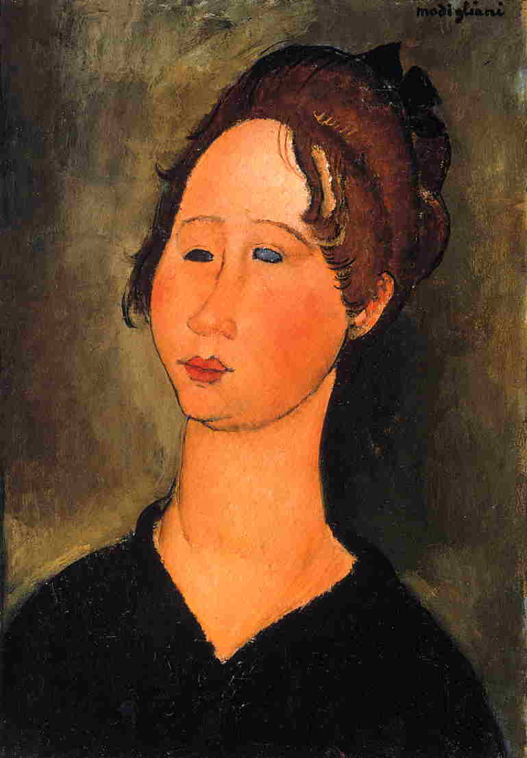 Burgundian Woman 1918 | Amedeo Modigliani | Oil Painting