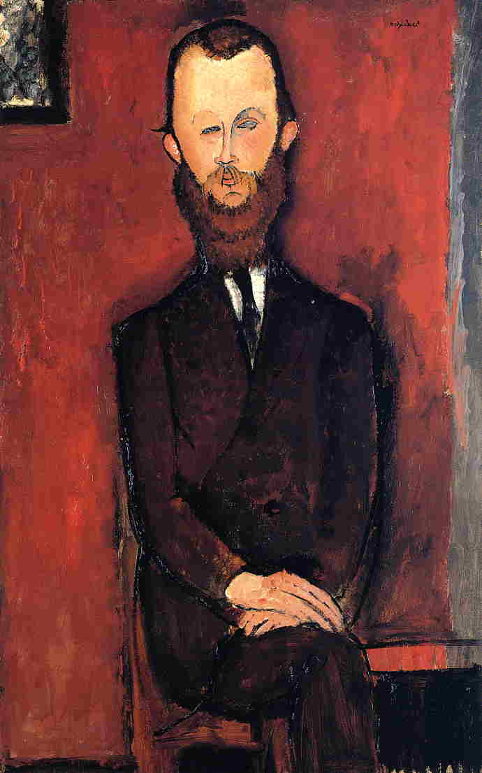 Count Weilhorski (aka Portrait of Count W. unfinished) 1917 | Amedeo Modigliani | Oil Painting