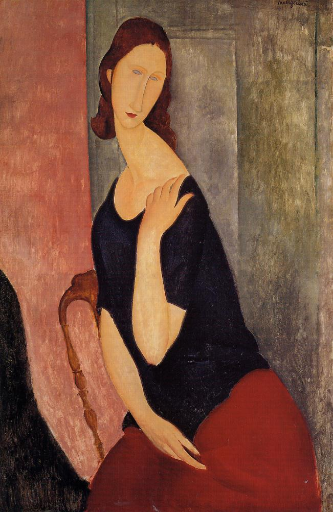 Portrait of Jeanne Hebuterne 1919 | Amedeo Modigliani | Oil Painting