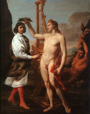 Marcantonio Pasquilini Crowned By Apollo | Andrea Sacchi | Oil Painting