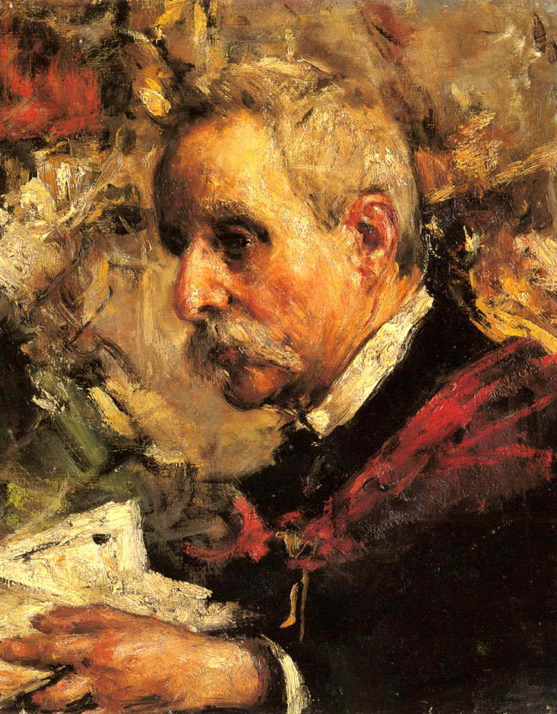 A Portrait Of The Artists Father | Antonio Mancini | Oil Painting