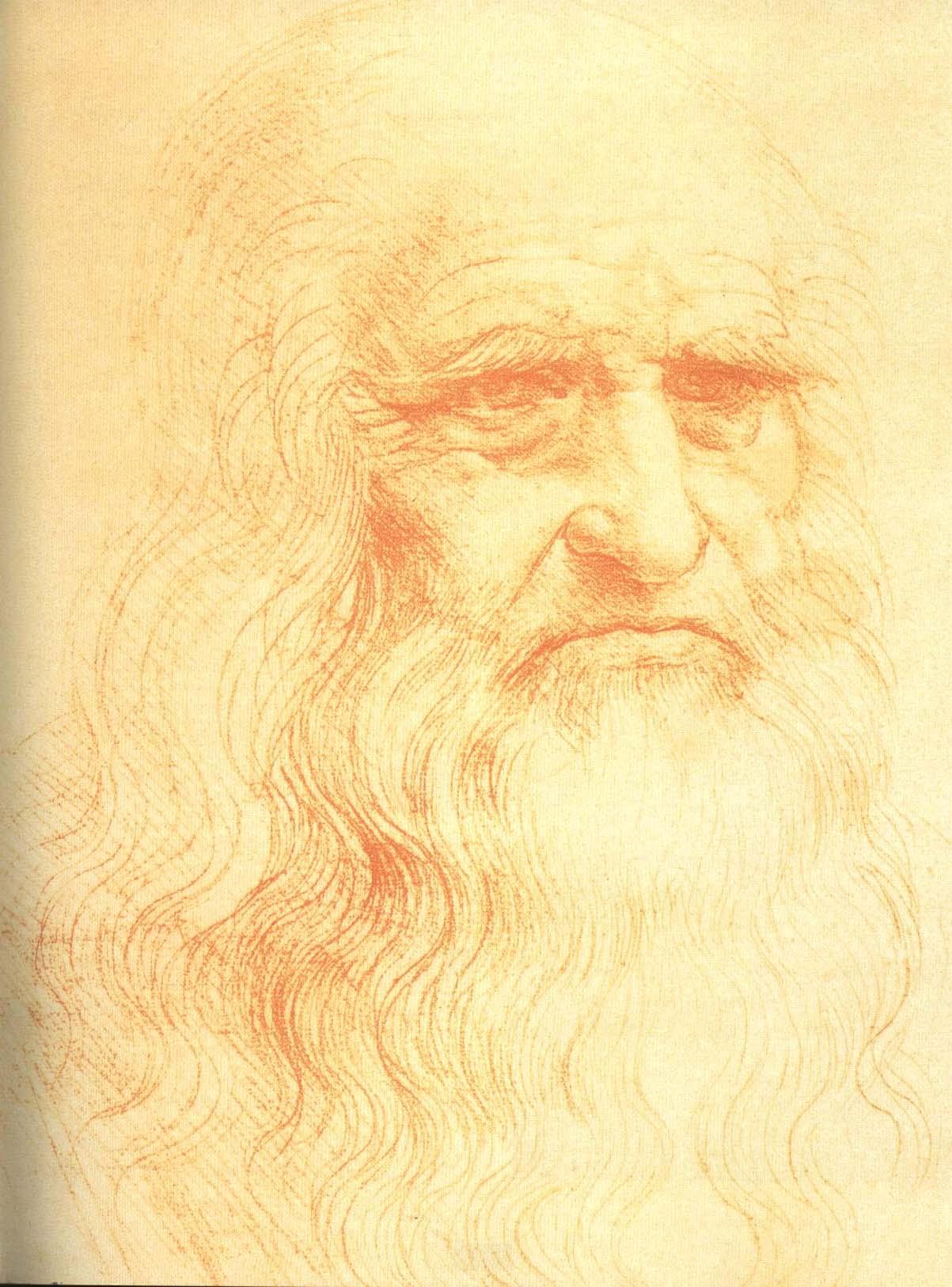 Self Portrait Painting   Leonardo Da Vinci Oil Paintings