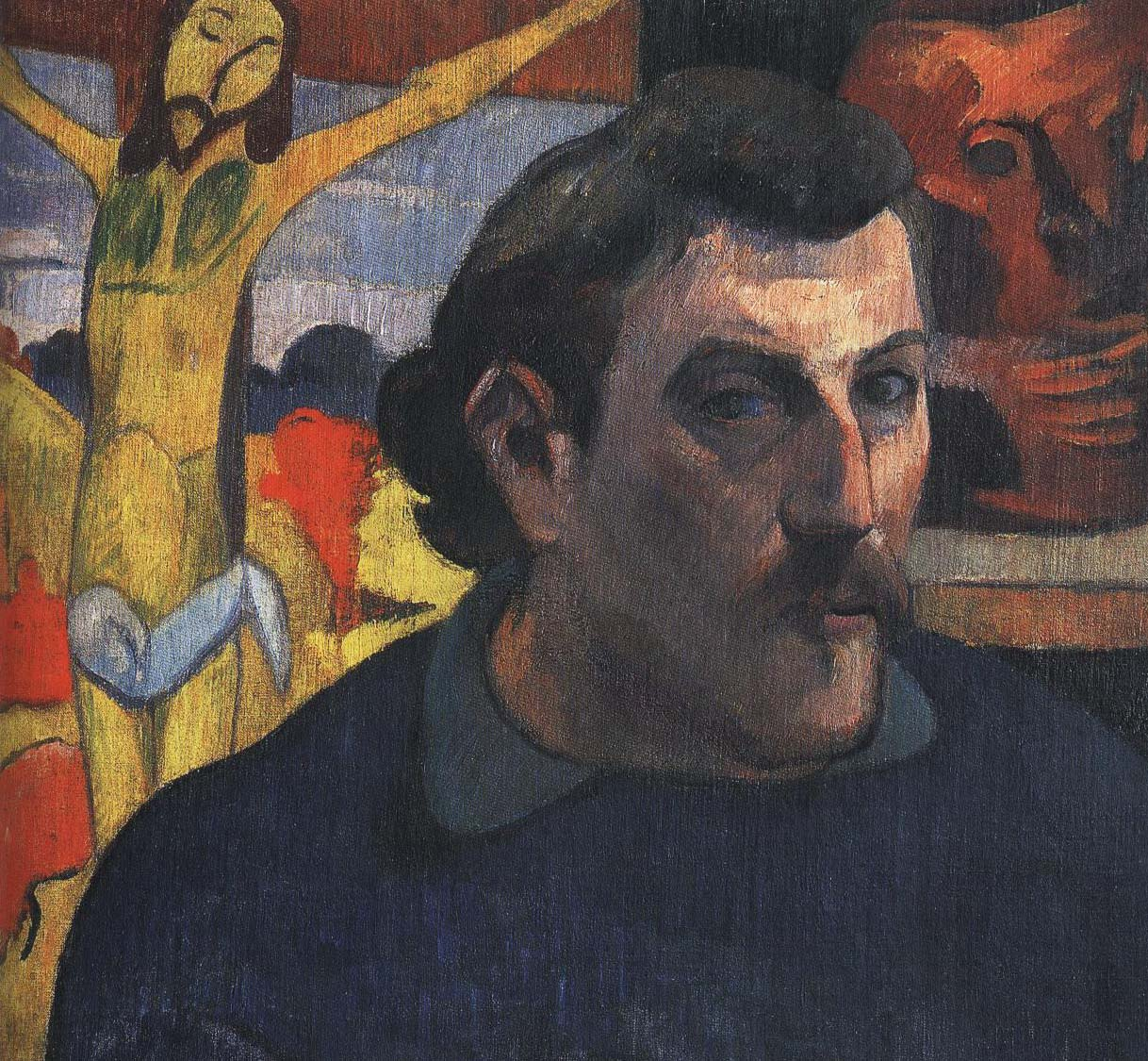 Self Portrait with Yellow Christ | Paul Gauguin 1889-1890 | Oil Painting