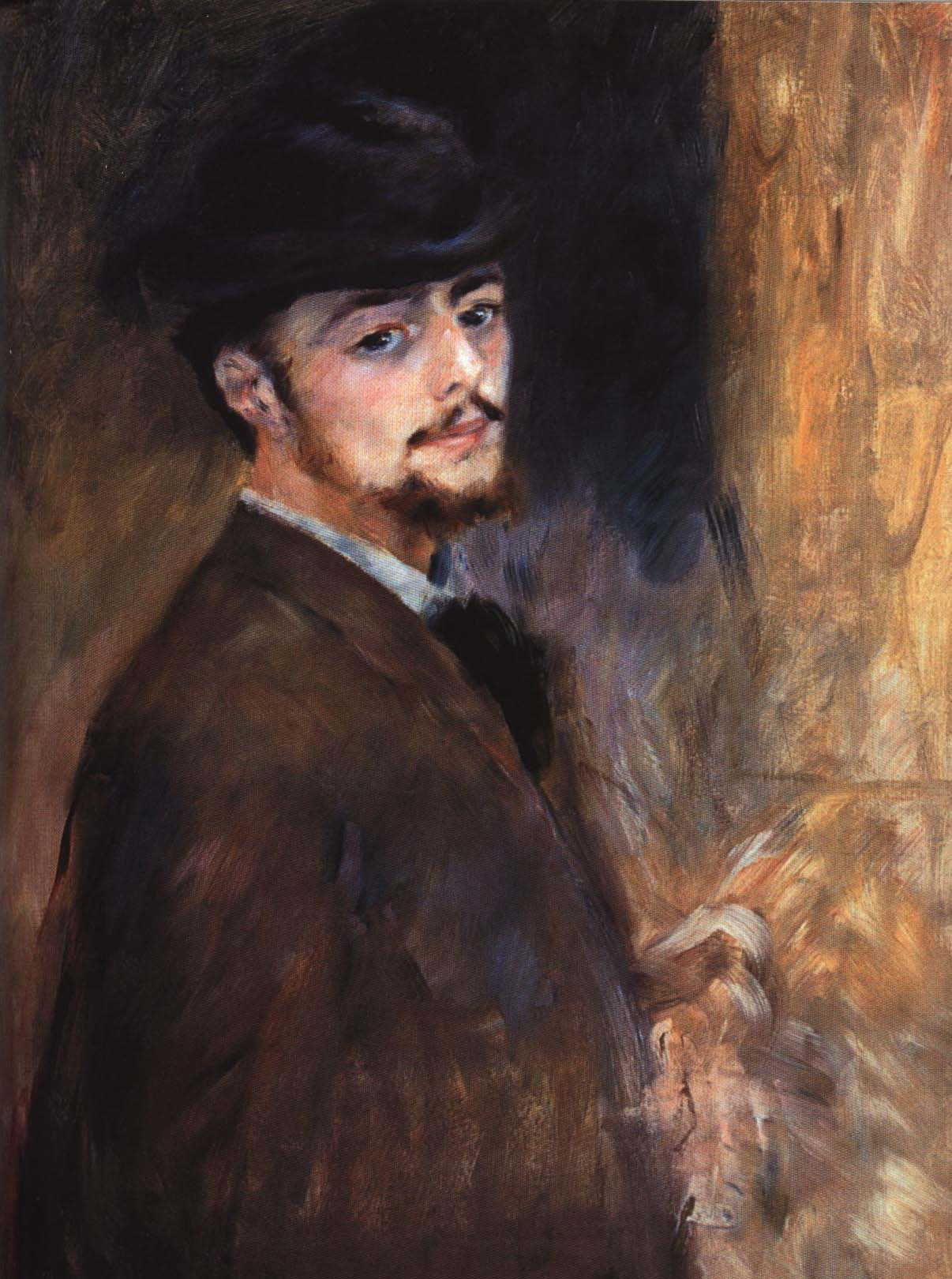 Self Portrait   Pierre-Auguste Renoir 1876   Oil Painting