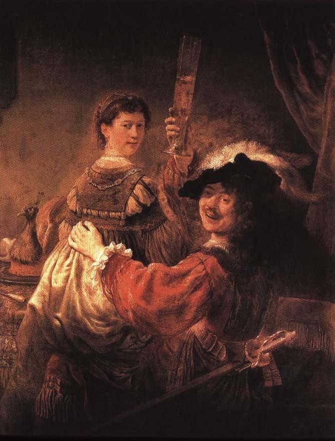 Self Portrait with Saskia | Rembrandt Van Rijn | Oil Painting