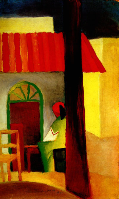Turkish Cafe I (1914) | Auguste Macke | Oil Painting