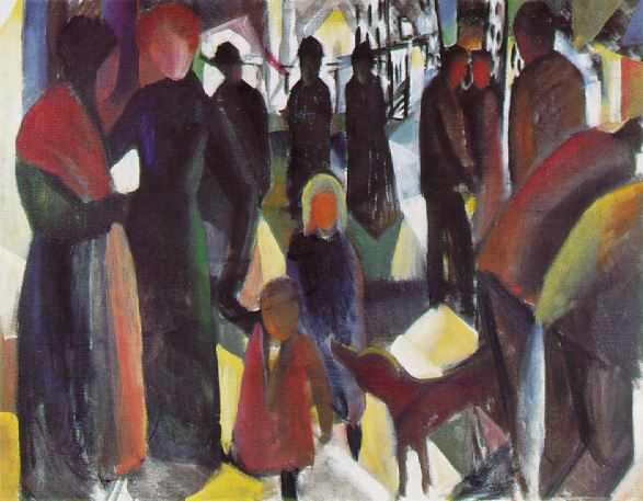farewell 1914 | Auguste Macke | Oil Painting