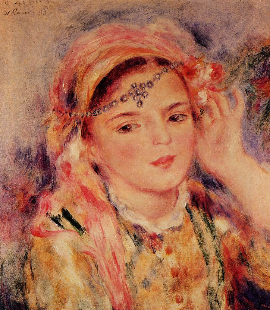 Algerian Woman 1883 | Pierre Auguste Renoir | Oil Painting