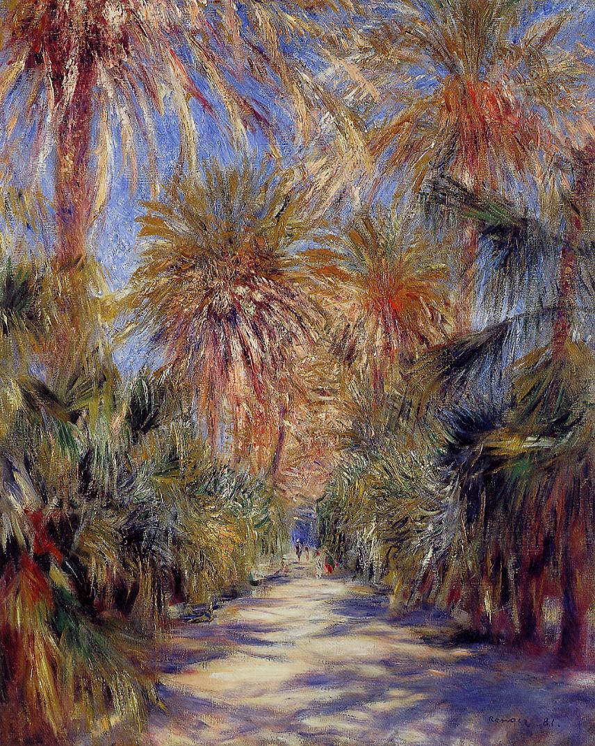 Algiers the Garden of Essai 1881 | Pierre Auguste Renoir | Oil Painting