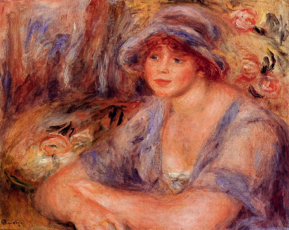 Andree in Blue (aka Andree Heurschling) 1917 | Pierre Auguste Renoir | Oil Painting