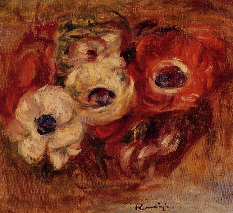 Anemones 1916   Pierre Auguste Renoir   Oil Painting
