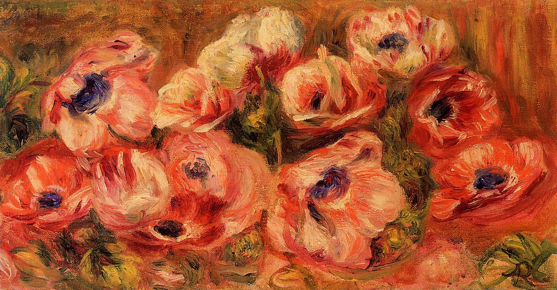 Anemones | Pierre Auguste Renoir | Oil Painting