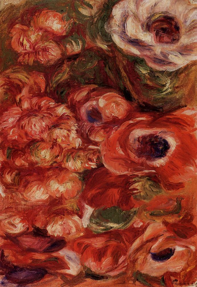 Anemonies   Pierre Auguste Renoir   Oil Painting