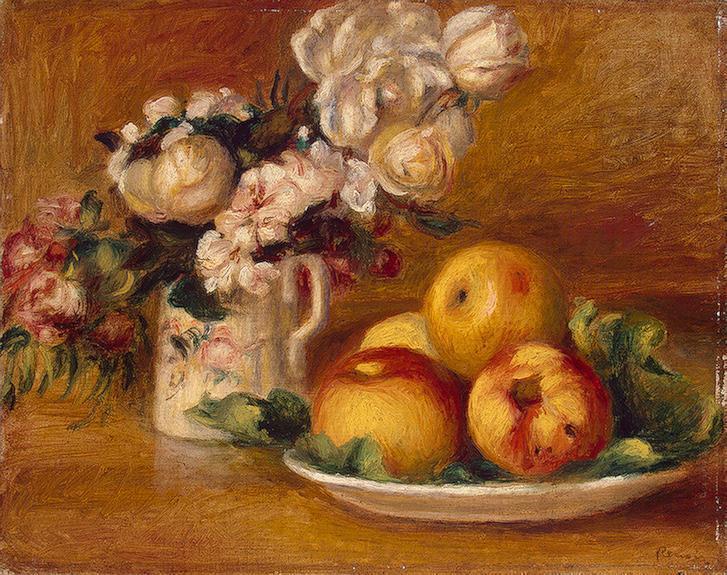 Apples and Flowers 1895-1896   Pierre Auguste Renoir   Oil Painting