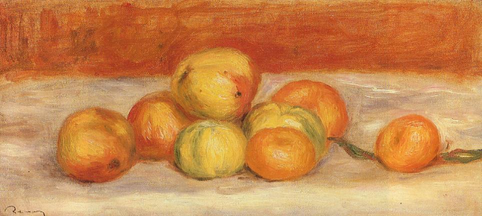 Apples and Manderines 1901   Pierre Auguste Renoir   Oil Painting