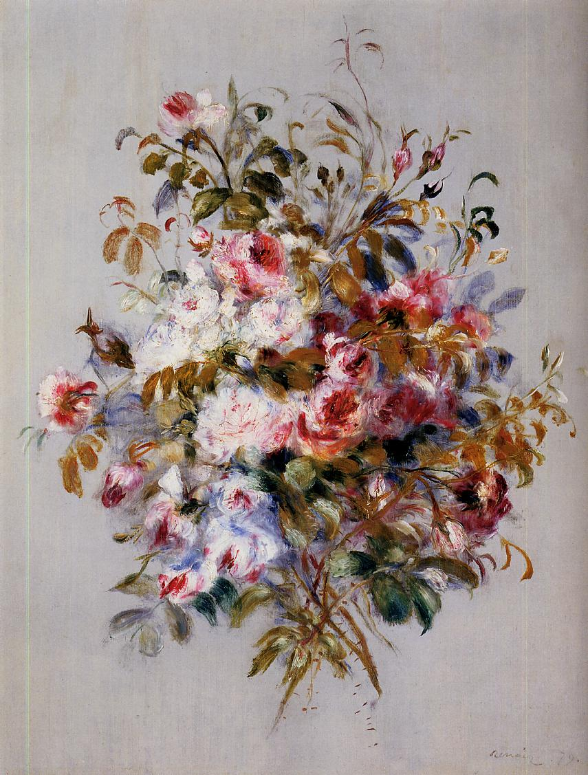A bouquet of roses 1879 painting pierre auguste renoir oil paintings a bouquet of roses 1879 pierre auguste renoir oil painting izmirmasajfo