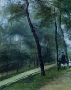 A Walk in the Woods (aka Madame Lecoeur and Her Children) 1870 | Pierre Auguste Renoir | Oil Painting