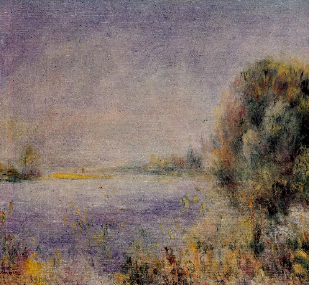 Banks of the River 1874-1876   Pierre Auguste Renoir   Oil Painting