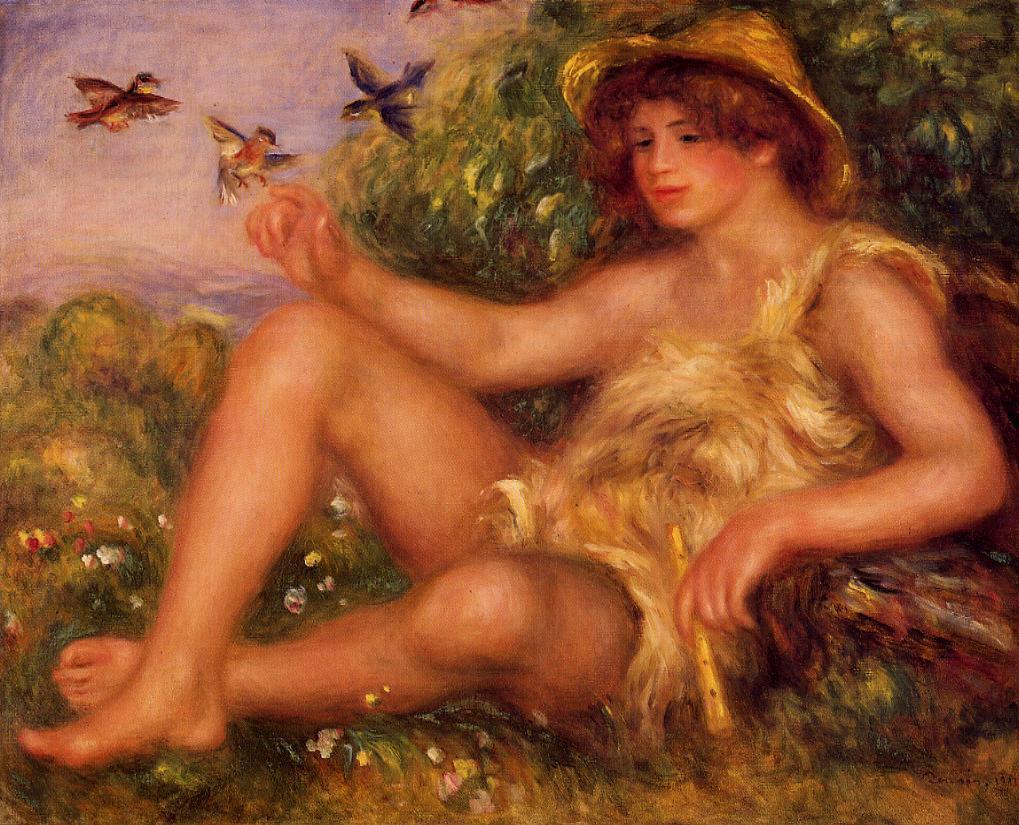 Young Shepherd in Repose (aka Alexander Thurneysson) 1911   Pierre Auguste Renoir   Oil Painting