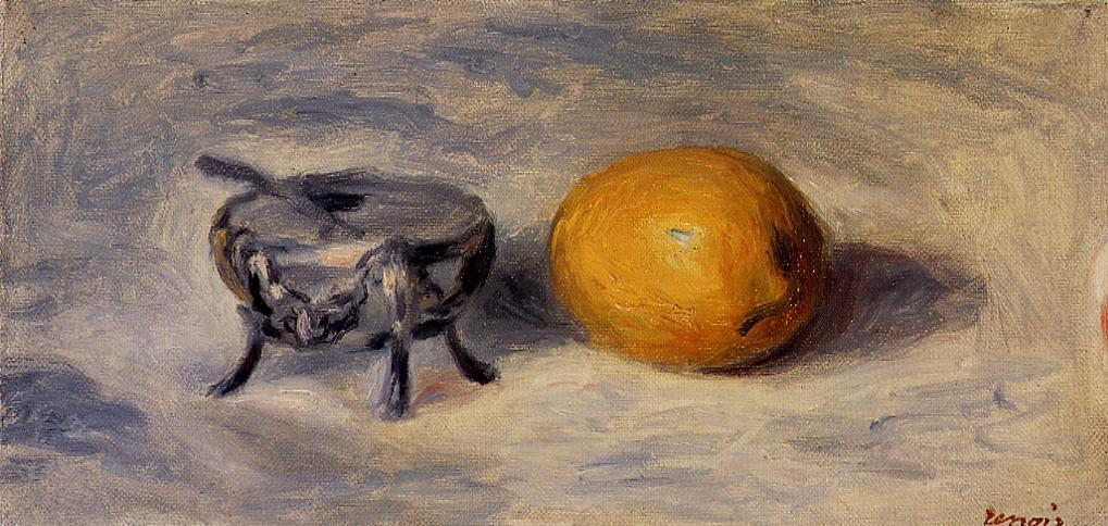 Sugar Bowl and Lemon | Pierre Auguste Renoir | Oil Painting