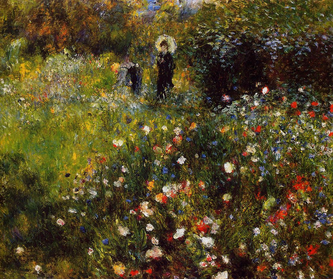 Summer Landscape (aka Woman with a Parasol in a Garden) 1873 | Pierre Auguste Renoir | Oil Painting
