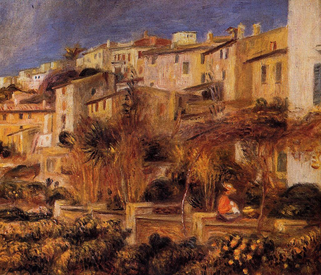 Terraces at Cagnes 1905 | Pierre Auguste Renoir | Oil Painting