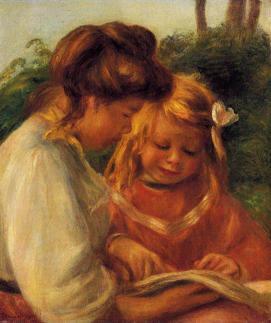 The Alphabet (aka Jean and Gabrielle) 1897 | Pierre Auguste Renoir | Oil Painting