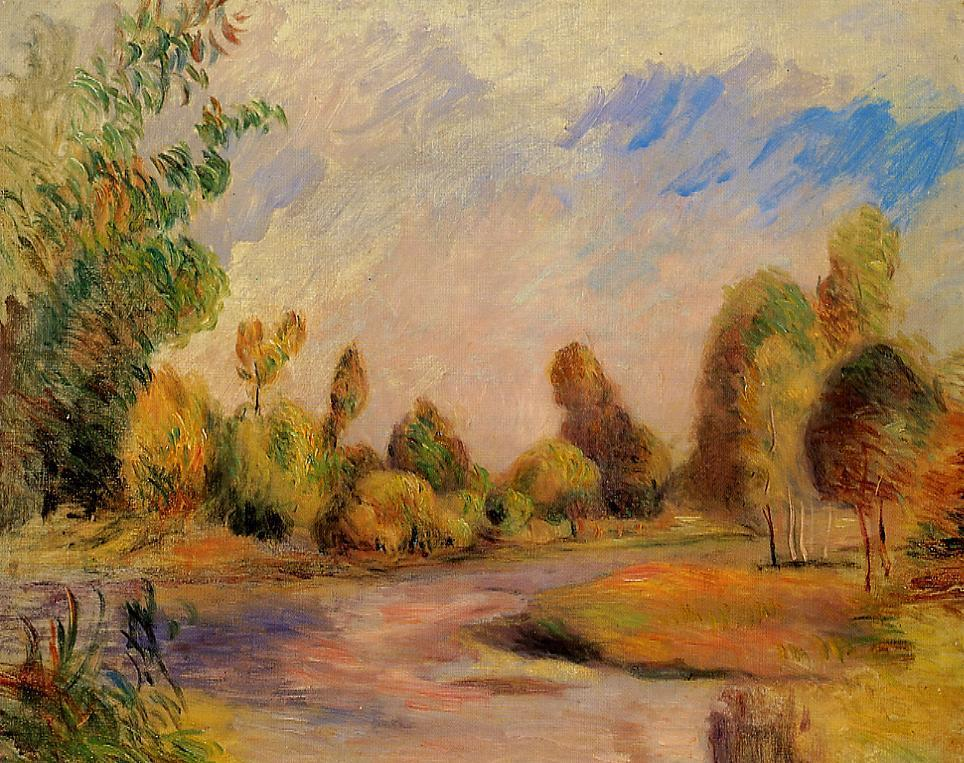 The Banks of the River 1896 | Pierre Auguste Renoir | Oil Painting