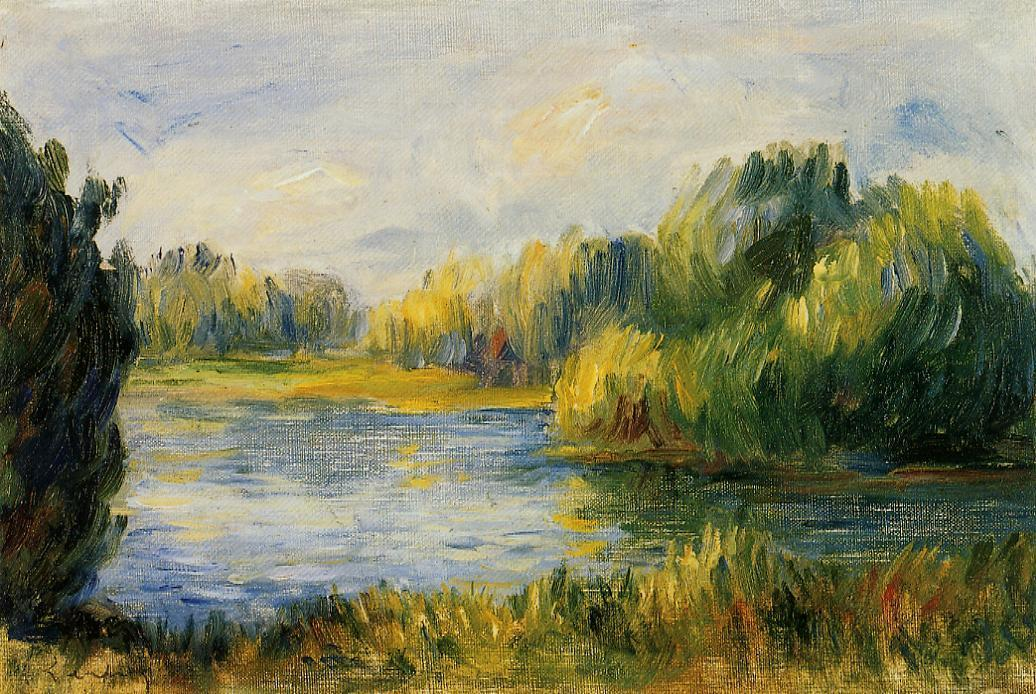 The Banks of the River | Pierre Auguste Renoir | Oil Painting