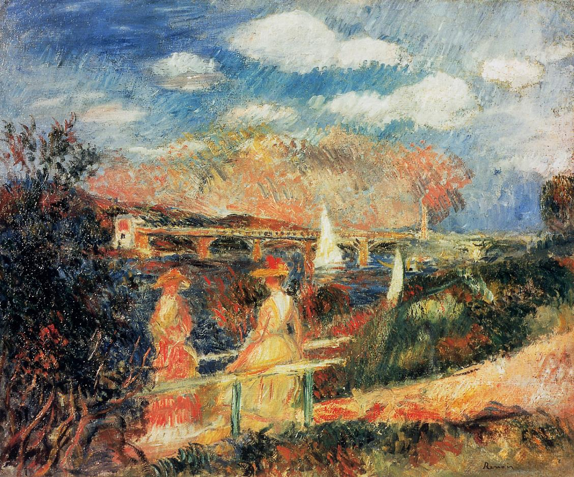 The Banks of the Seine at Argenteuil 1880 | Pierre Auguste Renoir | Oil Painting