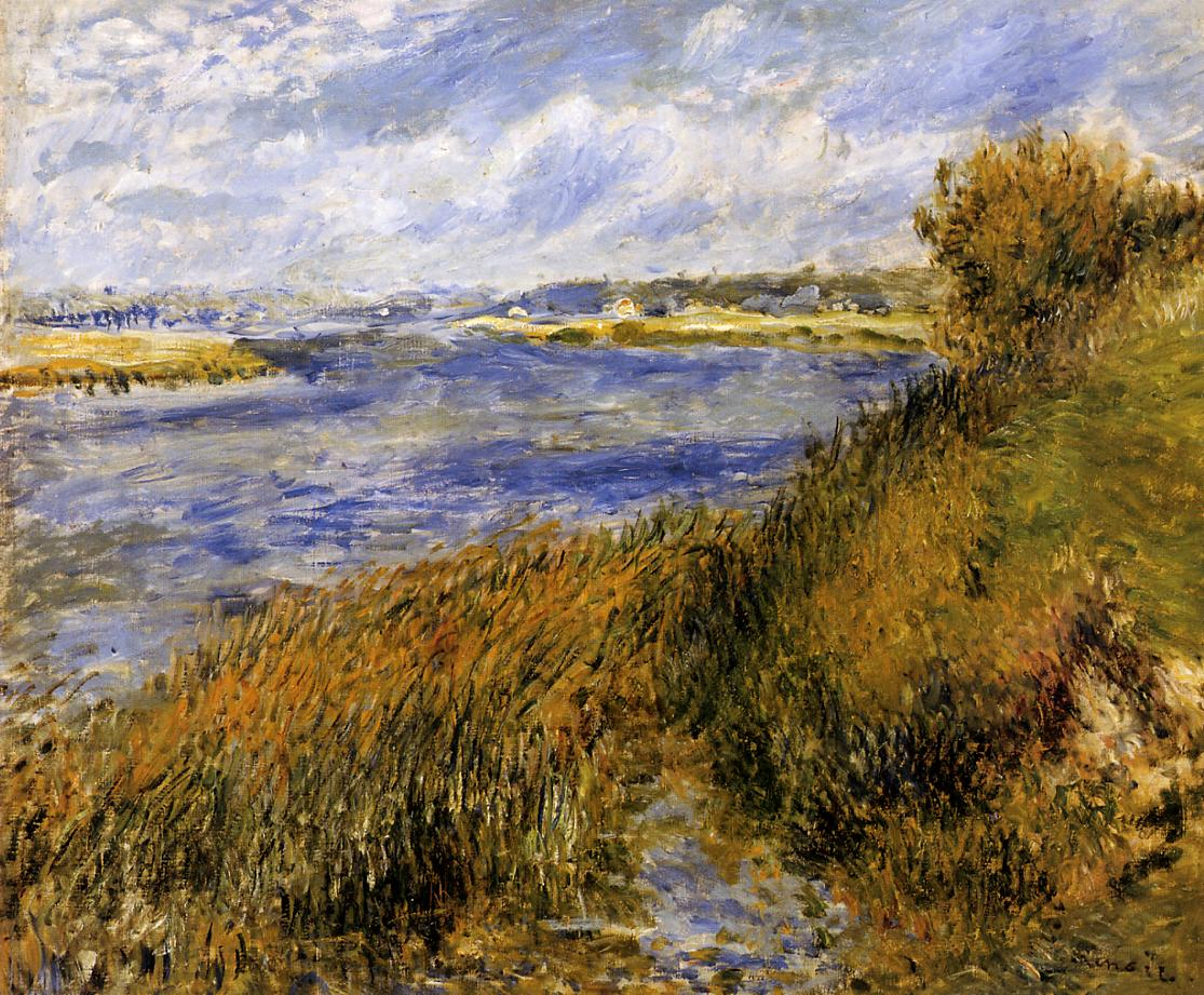 The Banks of the Seine at Champrosay 1876 | Pierre Auguste Renoir | Oil Painting