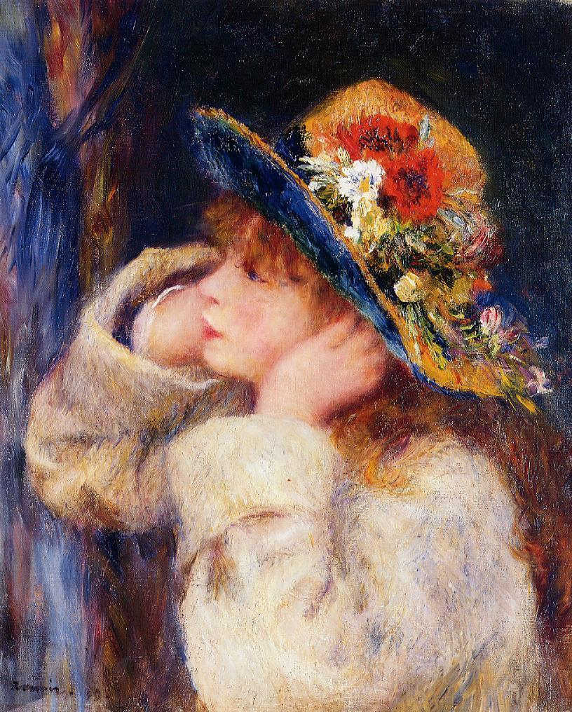 painting with Renoir hat girl