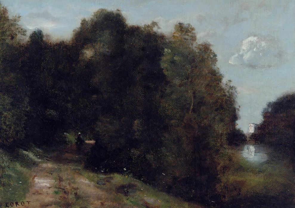 A Road through the Trees 1865-1870   Jean Baptiste Corot   Oil Painting