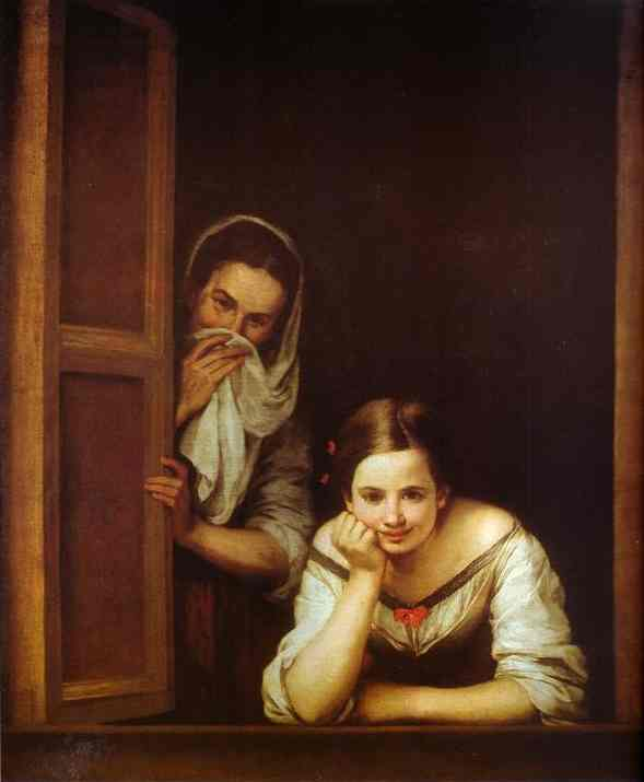 A Girl And Her Duenna 1670 | Bartolome Esteban Murillo | Oil Painting