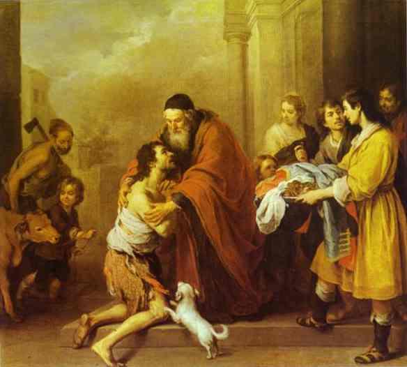 The Return Of The Prodigal Son 1670-74   Bartolome Esteban Murillo   Oil Painting
