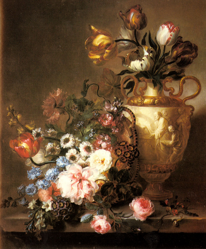 A Still Life With Assorted Flowers | Beauregard Ange Louis Lesourd | Oil Painting