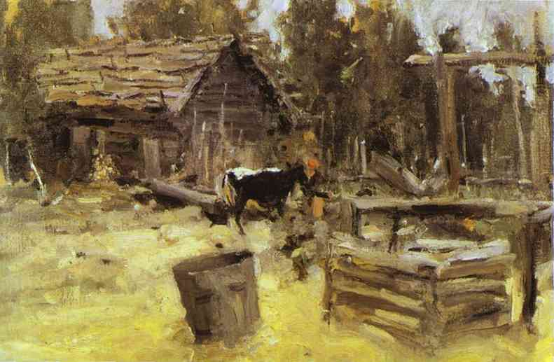 A Courtyard 1904 | Bernardo Strozzi | Oil Painting