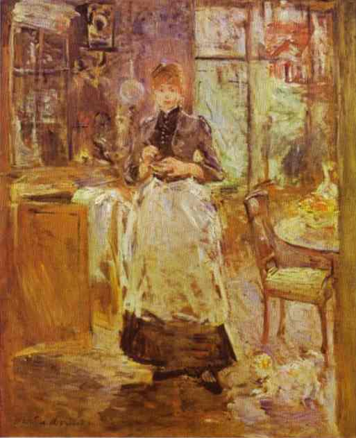 In The Dining Room 1886   Berthe Morisot   Oil Painting