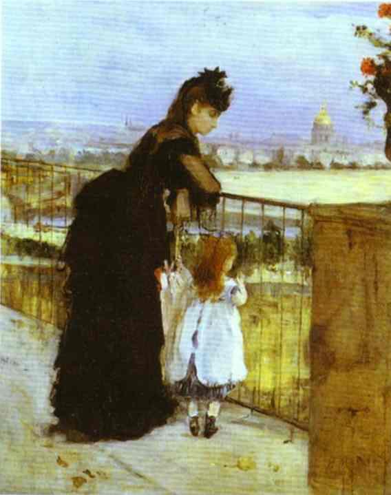 On The Balcony 1871-72   Berthe Morisot   Oil Painting