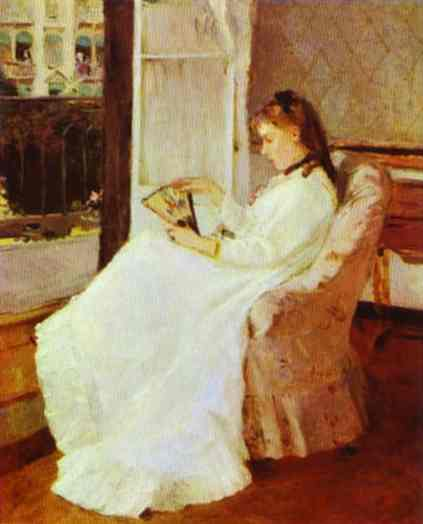 The Artists Sister At A Window 1869   Berthe Morisot   Oil Painting